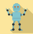 cyber robot icon flat style vector image
