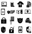 Data protection icons set vector image vector image