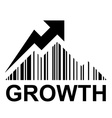 EAN barcode mountain growth profit symbol vector image vector image