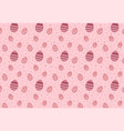 easter eggs seamless pattern on pink background vector image