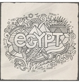 Egypt hand lettering and doodles elements vector image vector image