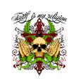 faith is my religion vector image vector image
