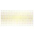 fork and spoon golden halftone pattern vector image vector image