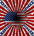 Grunge american background vector image vector image