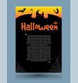 halloween dark background vector image