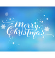 Hand-Drawn Lettering Merry Christmas vector image vector image