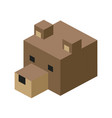 head bear modular animal plastic lego toy blocks vector image