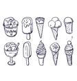 homemade ice cream vector image