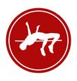 icon high jump female athlete vector image vector image