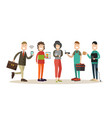 internet people flat icon set vector image vector image