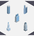 isometric skyscraper set of building urban tower vector image vector image