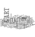 italian travel guide text background word cloud vector image vector image