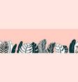 jungle plant border vector image vector image