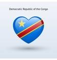 Love Democratic Republic of Congo symbol Heart vector image vector image