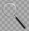 Magnifing Glass With Transparent Background vector image