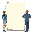 man and woman blank banner vector image