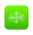 molecule dna icon green vector image vector image