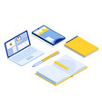 online education isometric banner e-learning vector image vector image