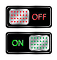 power switch sign white botton of on and off on vector image vector image