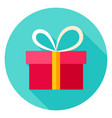present box circle icon vector image vector image