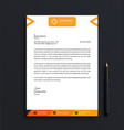 professional letterhead template design vector image