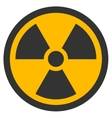 Radioactive Flat Icon vector image