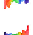 rainbow brush stroke watercolor border vector image