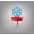 Red pin icon weather Snowflake vector image vector image