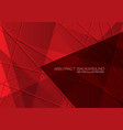 red polygon line overlap with blank space vector image