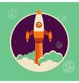 rocket space vector image vector image