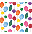 seamless texture with festive balloons on a white vector image