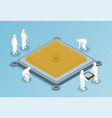 semiconductor isometric vector image vector image