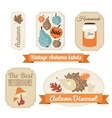 set vintage autumn fall labels tags stickers vector image vector image