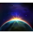 Space Sunrise Background vector image vector image