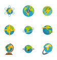 sphere icons set flat style vector image vector image