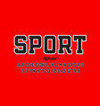 sports uniform style font alphabet letters and vector image vector image