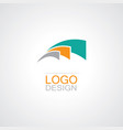 swirl loop abstract logo vector image vector image