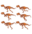 T Rex Bone Running Sequence vector image vector image