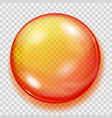 transparent orange sphere with shadow vector image vector image