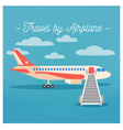 Travel Banner Tourism Industry Airplane Travel vector image vector image