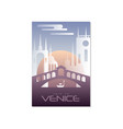 trip to venice travel poster template touristic vector image vector image