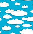 White clouds on blue sky seamless background vector image vector image