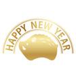 wild boar icon with happy new year logo vector image