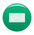 wooden peak fence icon green vector image