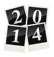 2014 on polaroid snapshots vector image vector image