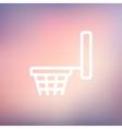 Basketball hoop thin line icon