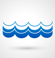 blue wave icon vector image vector image
