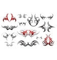 Body art tribal tattoo set vector image vector image