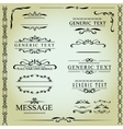 Calligraphic design elements and page decoration - vector image vector image