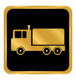 cargo car button vector image vector image